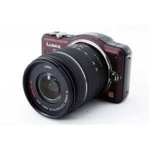 ミラーレス一眼 カメラ 中古 LUMIX ルミックス GF3 ブラウン レンズキット SDカード付き