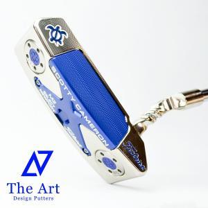 スコッティキャメロン カスタムパター ニューポートM2 (NEXT) ブルー Lucky HONU ツイスト Art ネック Platinum Custom クランクネック|cameron-himawari