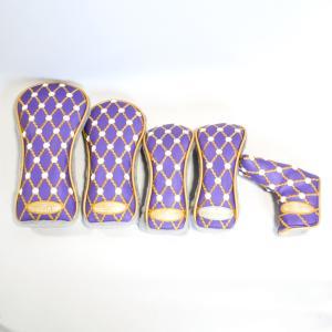 スコッティキャメロン ギャラリーヘッドカバー Purple Princess ヘッドカバーセット|cameron-himawari