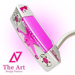 スコッティキャメロン カスタムパター ニューポートM2 (NEXT) ピンク Tiara Charm Cat ツイストy Art Screw ネック|cameron-himawari