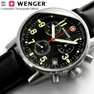 ミリタリー ミリタリ ウェンガー WENGER 腕時計 踊る大捜査線 青島モデル クロノグラフ 70825xl|cameron