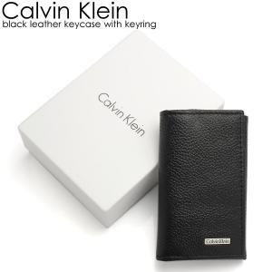 エントリーでCalvin Klein カルバンクライン メンズ キーケース ブランド ブラック メンズ シンプル キーリング 79216|cameron