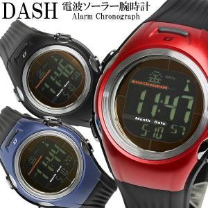 エントリーで15%還元 【DASH】 ダッシュ 腕時計 メンズ 電波ソーラー 10気圧防水 カウントダウンタイマー カレンダー adww18108の画像