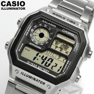 エントリーでP5倍 CASIO カシオ デジタルウォッチ 腕時計 メンズ ワールドタイム 10気圧防水 AE-1200WHD-1AVDF 海外モデル