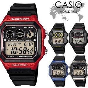 【CASIO】 カシオ 腕時計 クオーツ 10気圧防水 ワールドタイム チープカシオ 大人気のCAS...