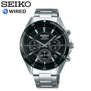 【SEIKO WIRED】セイコー ワイアード 腕時計 メンズ ソーラー 10気圧防水 クロノグラフ...