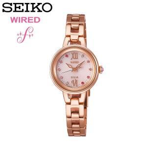 【SEIKO WIRED】 セイコー ワイアード F ソーラー腕時計 レディース 5気圧防水 ステンレス スワロフスキー クリスタル 華奢 エレガント 上品 AGED093 cameron