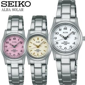 SEIKO ALBA セイコー アルバ ソーラー腕時計 レディース 女性用 10気圧防水 ステンレス ハードレックス 華奢 シンプル ブランド ALBA05|cameron
