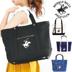 エントリーでBEVERY HILLS POLO CLUB ビバリーヒルズポロクラブ キャンバストートバッグL BAG 鞄 bh1008|cameron