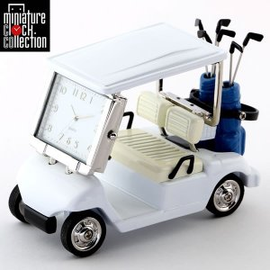 ミニチュア クロック 置時計 ゴルフカート型 日本製クォーツ おしゃれ 小さい アナログ 卓上 イン...