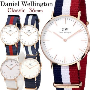 Daniel Wellington ダニエルウェリントン 腕時計 レディース 36mm NATOベルト ナイロン dw_11