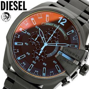 DIESEL ディーゼル 腕時計 クロノグラフ メンズ DZ4318 カラーガラス メガチーフ...