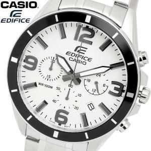casio EDIFICE カシオ エディフィス クオーツ 腕時計 メンズ クロノグラフ ストップウォッチ 10気圧防水 ステンレス ウォッチ EFR553D7B|cameron