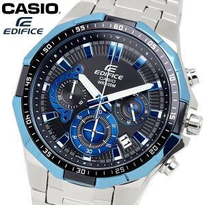 casio EDIFICE カシオ エディフィス クオーツ 腕時計 メンズ クロノグラフ ストップウォッチ 10気圧防水 カレンダー 日付 ステンレス ウォッチ EFR554D1A2|cameron