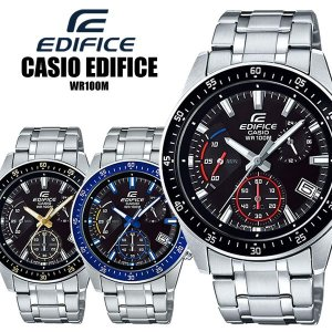 CASIO EDIFICE エディフィス クオーツ 腕時計 10気圧防水 クロノグラフ EFV-54...