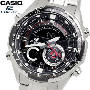 casio EDIFICE カシオ エディフィス クオーツ 腕時計 メンズ フルオートカレンダー 10気圧防水 ワールドタイム 温度計測 ストップウォッチ アラーム ERA600D1A|cameron