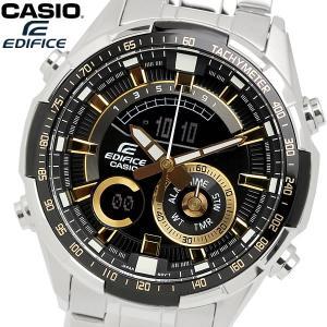 casio EDIFICE カシオ エディフィス クオーツ 腕時計 メンズ フルオートカレンダー 10気圧防水 ワールドタイム 温度計測 ストップウォッチ アラーム ERA600D1A9|cameron