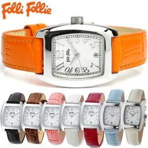 549f1d8a9e エントリーでP10倍 フォリフォリ Folli Follie 腕時計 革ベルト レザー トノー型 レディース レディス ブランド ギフト