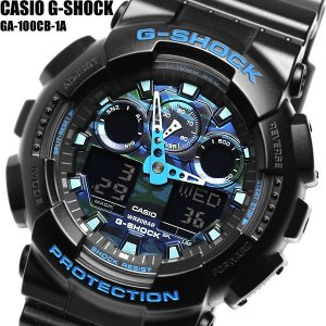 casio G-SHOCK カシオ ジーショック 腕時計 ウォッチ メンズ 男性用 クオーツ 20気圧防水 ワールドタイム アナデジ ga-100cb-1a|cameron