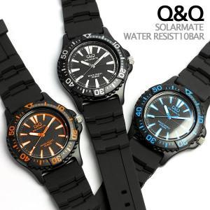 ソーラー 腕時計 メンズ レディース シチズンQQ ラバー ウォッチ H030-002|cameron