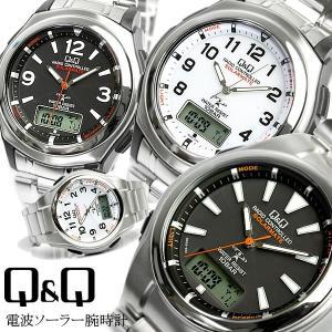 エントリーでP5倍 電波ソーラー腕時計 メンズ 電波時計 シチズン Q&Q 腕時計