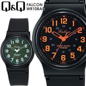 【シチズン】 Q&Q ユニセックス ラバー 腕時計 10気圧防水 FALCON QQ027 信頼のシ...