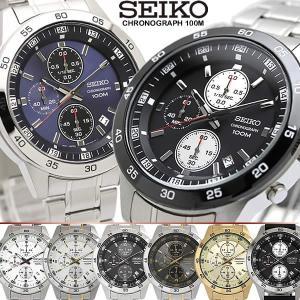 【SEIKO/セイコー】 クロノグラフ メンズ 腕時計 100M防水 海外モデルSEIKO セイコー...