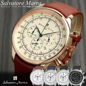 サルバトーレマーラ クロノグラフ メンズ腕時計 革ベルト クロノグラフ腕時計|cameron
