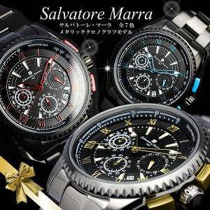 クロノグラフ サルバトーレマーラ メタリックカラー クロノグラフ 腕時計 メンズ クロノ|cameron