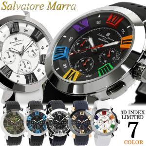 エントリーで5%還元 サルバトーレマーラ 腕時計 メンズ クロノグラフ 立体インデックス 限定モデル...