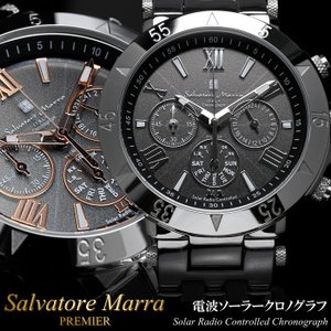 Salvatore Marra サルバトーレマーラ 電波 ソーラー 腕時計 メンズ クロノグラフ クロノ 限定モデル SM15114 父の日 ギフト delivery0619|cameron
