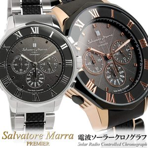 Salvatore Marra サルバトーレマーラ 電波 ソーラー 腕時計 メンズ クロノグラフ S...
