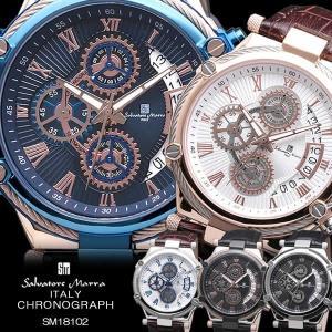 Salvatore Marra サルバトーレマーラ 腕時計 メンズ クオーツ 10気圧防水 カレンダ...