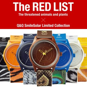 Q&Q Smile Solar スマイルソーラー 限定モデル 絶滅危惧種 レッドリスト 腕時計 メンズ レディース ウォッチ 人気 ブランド|cameron