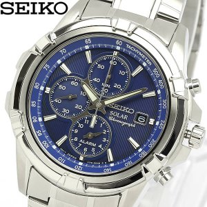 セイコー SEIKO 腕時計 海外モデル ソーラー アラーム クロノグラフ メンズ SSC141P1|cameron