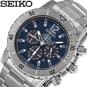 SEIKO セイコー ソーラー クロノグラフ 腕時計 SSC221P1 高性能のセイコークロノに電池...