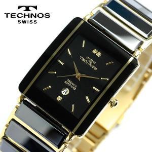 エントリーでP5倍 TECHNOS テクノス メンズ セラミック サファイアガラス ブラック 腕時計 TAM530GB TECHNOS テクノス 腕時計