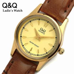 シチズン CITIZEN 腕時計 革ベルト レディース Q&Q ウォッチ VG43-100|cameron