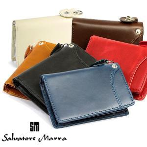 サルバトーレマーラ/ 本革カラーレザー 二つ折り財布 人気ブランドサルバトーレマーラからコンパクトな...