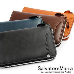 サルバトーレマーラ/Salvatore Marra 長財布 ラウンドファスナー メンズ 本革カラーレザー ウォレット|cameron