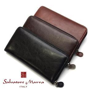 【Salvatore Marra】 サルバトーレマーラ メンズ ウォレット WALEET 長財布 レ...
