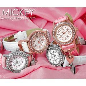 【disney_y】ミッキーマウス ミッキー 腕時計 レディース レディス 腕時計 ハート ミッキー 腕時計 アクセサリー|cameron