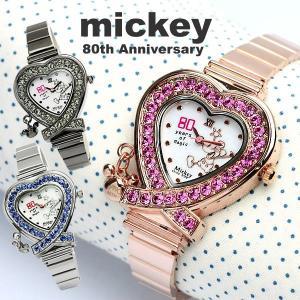 【disney_y】 ミッキー 腕時計 ミッキーマウス スワロフスキー ウォッチ ミッキー 腕時計 生誕80周年|cameron