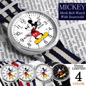 ミッキーマウス 腕時計 スワロフスキー NATOベルト ナイロン Mickey Mouse ディズニー Disney レディース メンズ ユニセックス 男女兼用 NFC1500|cameron