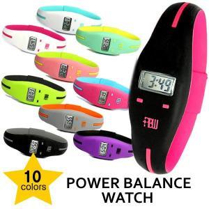 パワーバランス POWER BALANCE ウォッチ シリコンリスト 腕時計 デジタル cameron