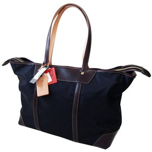 「Regale」エンドー鞄 栃木レザー×高密度ナイロン 横型トートバッグ ブラック「日本製」|cameshouse