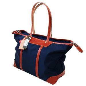 「Regale」エンドー鞄 栃木レザー×高密度ナイロン 横型トートバッグ 紺「日本製」|cameshouse