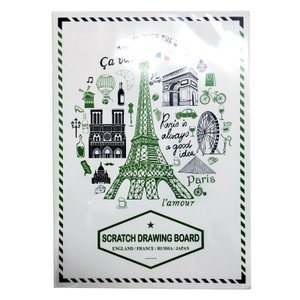 セイスクラッチ A5ポストカード スクラッチ塗り絵 イギリス/フランス/ロシア/日本|cameshouse
