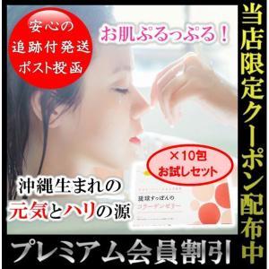 琉球すっぽんのコラーゲンゼリー コラーゲン アミノ酸 グリシン プロリン お試し 10本入り 箱無し さっぱりマンゴー味