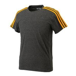 adidasアディダス M ESS(エッセンシャルズ) EH 3S 半袖Tシャツ Mサイズ JPE98 (AK1738) ブラックビスメランジ/イーキューティーオレンジS16